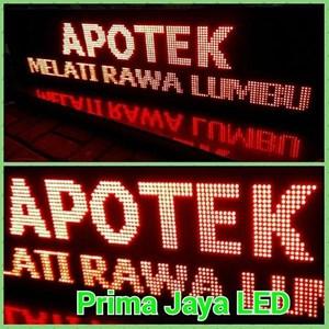 Running Teks LED Merah 169 X 41
