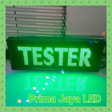 LED Display Hijau 100 X 41 Cm