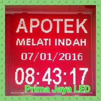 Diplay LED 1 Meter Persegi Merah 1