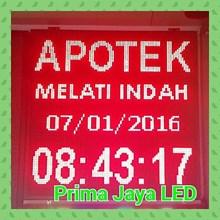 Diplay LED 1 Meter Persegi Merah