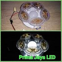 Downlight Jamur Kaca Emas - Lampu LED
