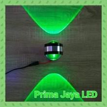Lampu LED Mata Ikan 2 Arah Hijau 6 Watt