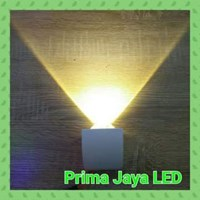 Jual Lampu Dinding Satu Arah 3 Watt Body Putih