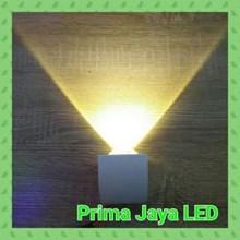 Lampu Dinding Satu Arah 3 Watt Body Putih