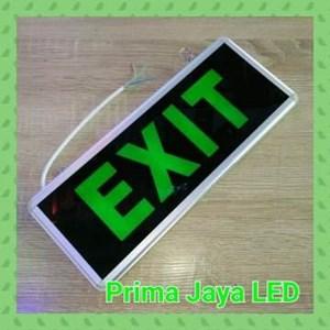 Lampu LED Emergency Exit Sign Model Kaca