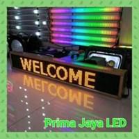 Lampu LED Running Teks Kuning 165 X 22 Cm 1