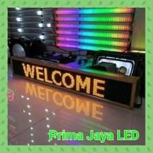 Lampu LED Running Teks Kuning 165 X 22 Cm