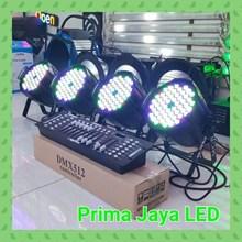 Lampu PAR Paket 54 x 3w RGBW + DMX 192