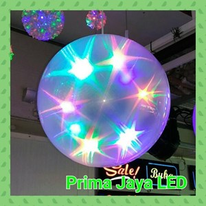 Lampu LED Magic Ball 30 Cm Motif Star