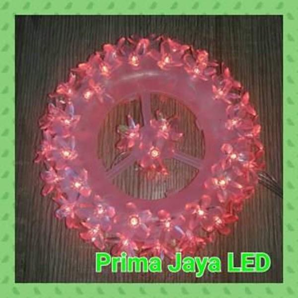 Lampu LED Flower Circle Merah 100 Light