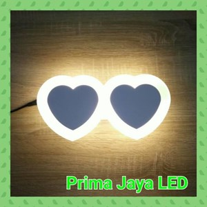 Lampu Led Wall Love Double 8022