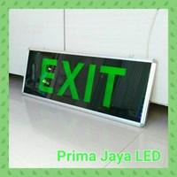 Lampu LED Big Exit Sign 30 X 80 Cm Hijau 1