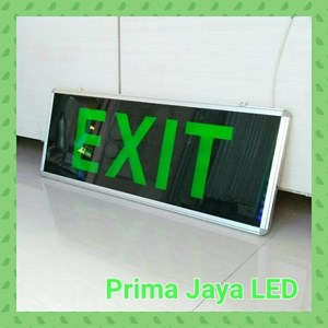 Lampu LED Big Exit Sign 30 X 80 Cm Hijau
