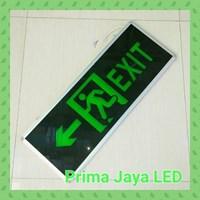 Lampu LED Sign Exit Besar Dua Arah 30 X 80 Cm Hijau 1