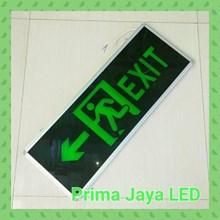 Lampu LED Sign Exit Besar Dua Arah 30 X 80 Cm Hijau