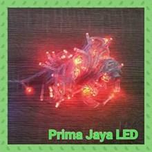 Lampu LED Twingkle Natal Merah