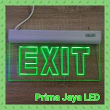 Lampu LED Emergency Sign Exit Acrylic Hijau
