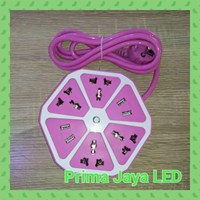 Aksesoris Lampu Colokan Multi Bentuk Lemon Pink