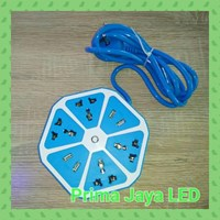 Aksesoris Lampu Colokan Multi Bentuk Lemon Biru