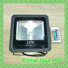 Lampu LED Tembak 20W RGB Remote