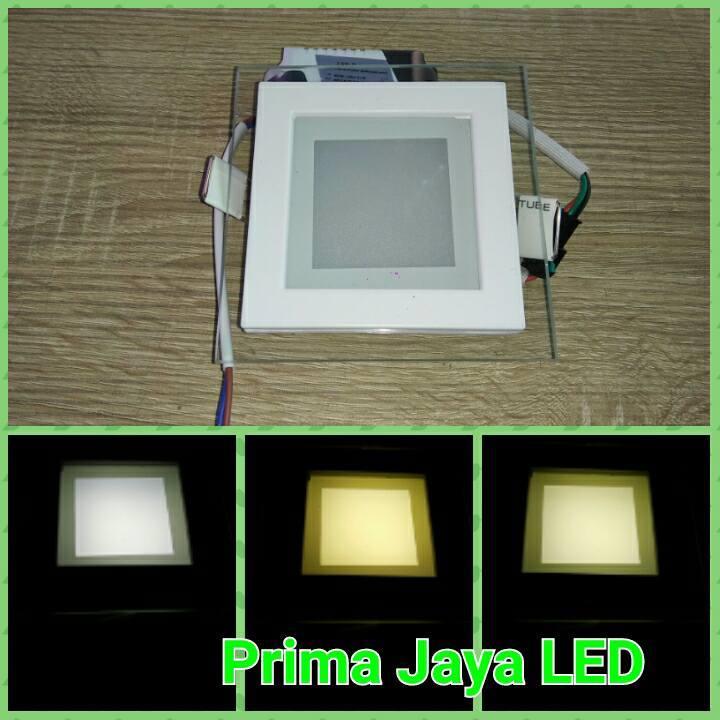 Jual Lampu Downlight Kotak 6 Watt 3 Warna Harga Murah