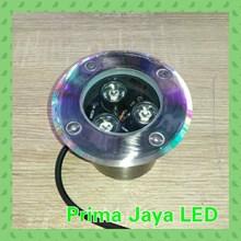 Lampu LED Tanam Lantai 3 Watt Body Silver