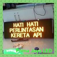 Lampu LED Running Teks 169 X 53 Cm Kuning
