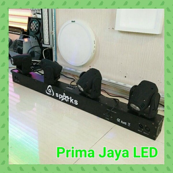 Lampu Bar Moving HEad LED Mini LED 4 Head