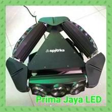 Lampu LED Moving Spider LED 9 Mata