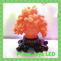 Lampu Hias Mewah Kramik Bunga Orange