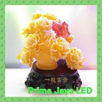 Lampu Hias Mewah Kramik Bunga Kuning