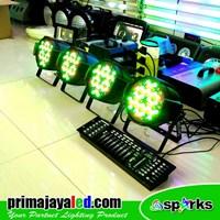 Lampu PAR Paket 4 Par 54 DMX 1