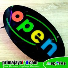 Lampu LED Sign Open Oval