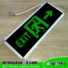 Lampu LED Sign Exit Kaca Murah