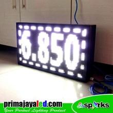 Lampu LED Display Teks 69 X 37cm Putih