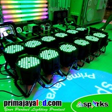 Lampu PAR Paket 12 Par LED 54 3in1 RGB