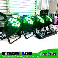 Lampu PAR Paket Set 4 Par 18 X 10 DMX