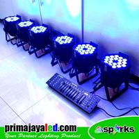 Lampu PAR Paket DMX Set 6 Par LED 18 X 10 W