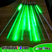 Lampu LED Meteor Set Hijau