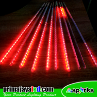 Lampu LED Set Meteor LED 50cm Merah