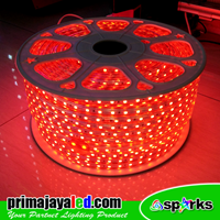Lampu LED Flexible Selang Merah 1