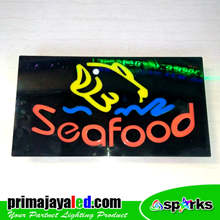 Lampu LED Sign Seafood Resto