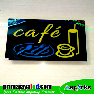 Lampu LED Sign LED Cafe