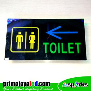 Lampu LED Sign LED Toilet Panah
