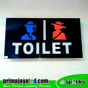 Lampu LED Sign LED Toilet Male Female