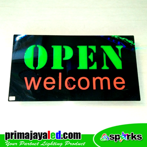 Lampu LED Sign LED Open Welcome