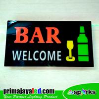Lampu LED Sign LED Bar Welcome 1