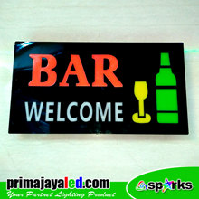Lampu LED Sign LED Bar Welcome