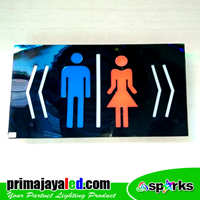 Lampu LED Sign LED Toilet Kanan Kiri 1