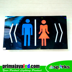 Lampu LED Sign LED Toilet Kanan Kiri